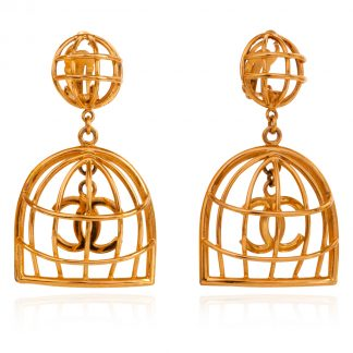 Chanel Vintage Earrings Birdcage