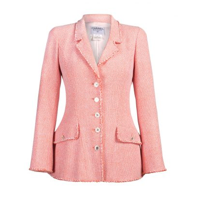 Vintage Chanel Pink Buckle Jacket
