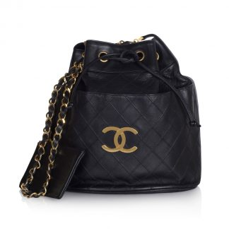 Vintage Chanel Drawstring Bag