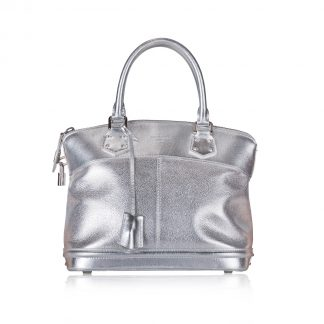 Louis Vuitton Silver Lockit PM Bag