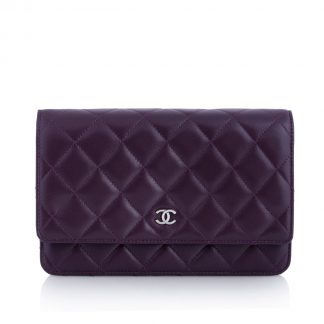 Chanel Woc Purple Wallet